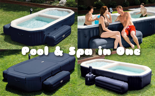 Intex Hot Tub and Pool Set, 4 Views, Cover Included
