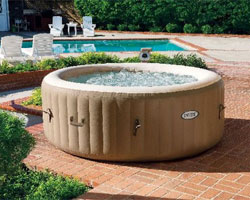 Intex PureSpa on Pool Patio: How to Set Up a Hot Tub