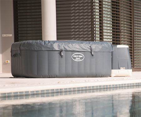 Well-Insulated Lay-Z Hawaii Hot Tub with Cover and the Cost of Running a Hot Tub