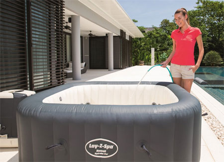A Salt Water Hot Tub That Is Inflatable